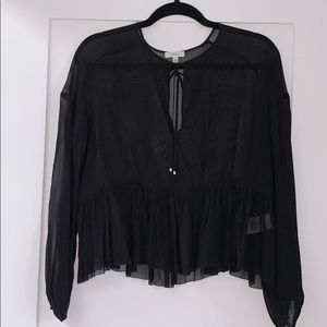 Aritzia • Wilfred Sheer Black Blouse